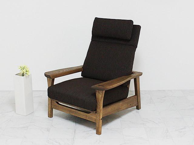 ハイバック使用の一人掛けソファ
