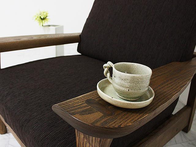 無垢タモ材使用のフレーンソファ