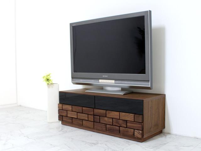 ウォールナット材のW1200TVボード