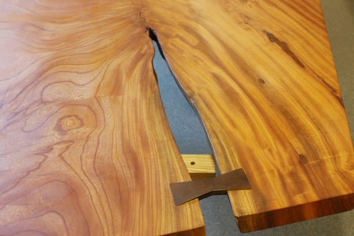 一枚板テーブル欅契(ちぎり)