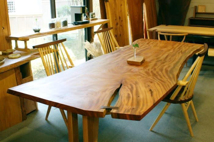 欅(けやき)一枚板ダイニングテーブル