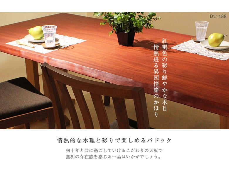 【DT-488】パドック一枚板テーブル イメージカット